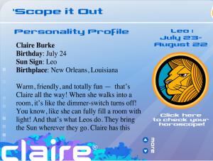 Claire horoscope